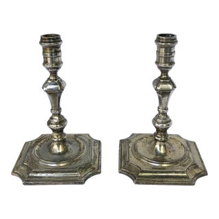 Miniature Silver Candlestick Pair For Sale