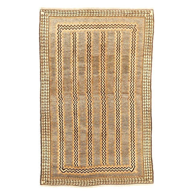 1940s Antique Persian Area Rug Gabbeh Design For Sale - Image 5 of 5