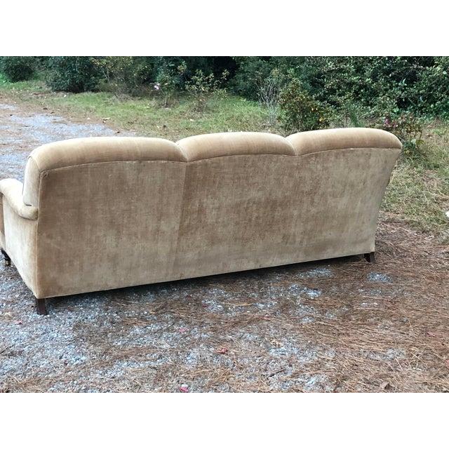 O Henry House Ltd Down Filled Velvet Chenille Sofa For Sale - Image 10 of 13