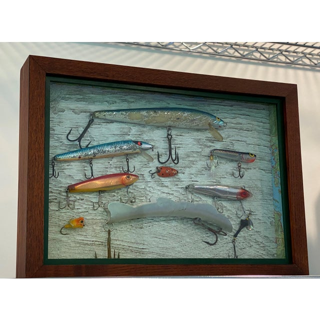 Vintage Fishing Lures in Shadow Boxes - Set of 5 For Sale - Image 4 of 6