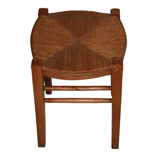 Vintage French Rush Seat Farm Stool - Image 1 of 4