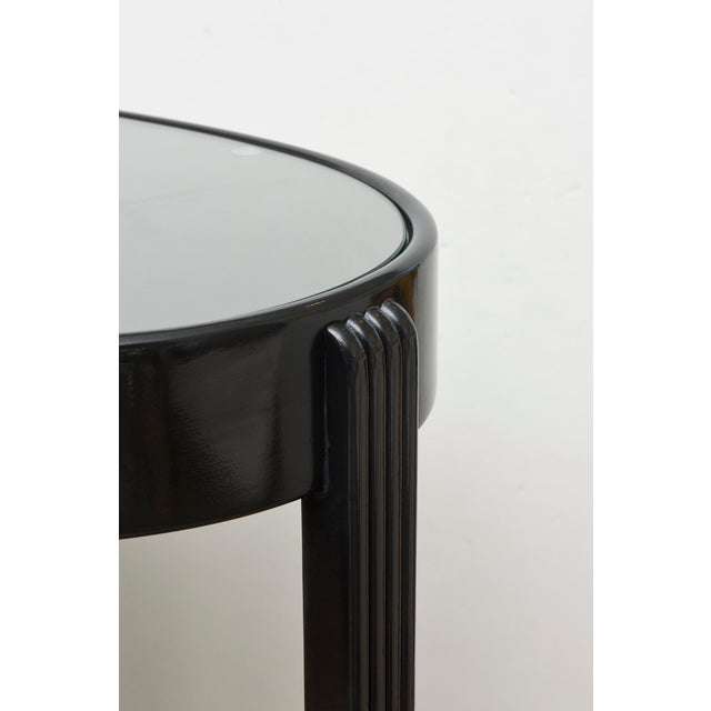 Art Deco Moderne Ebonized Sculptural Bar Cart or Trolley For Sale In Miami - Image 6 of 10