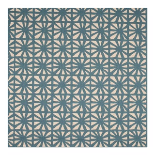 Sample - Justina Blakeney Monterey Printed Cotton and Linen Fabric, Riviera For Sale