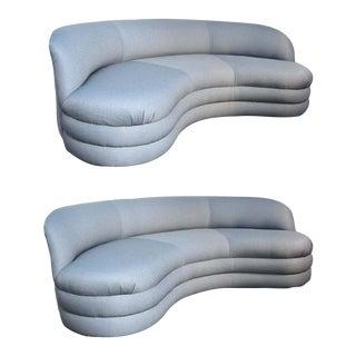 Vladimir Kagan for Directional Modern Sofas - A Pair For Sale