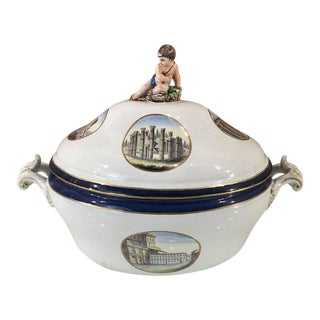 Italian Grand Tour Topographical Figural Tureen by Doccia