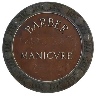 1920's Bronze Barber Sign From the St. Regis Hotel, Nyc For Sale