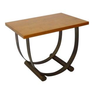 Donald Deskey Style Art Deco Machine Age Side Table For Sale
