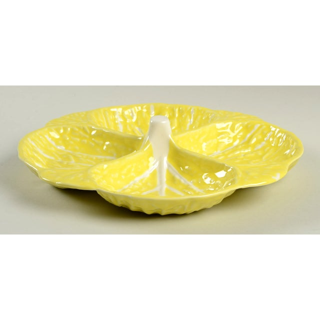Ceramic Secla Cabbage-Yellow Relish-4 Part For Sale - Image 7 of 7