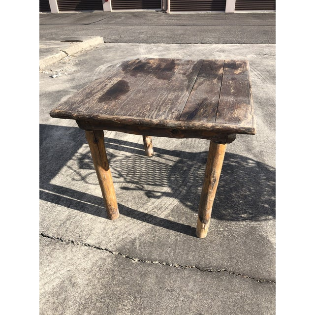 Rustic Adirondack Work or Side Table For Sale - Image 12 of 13