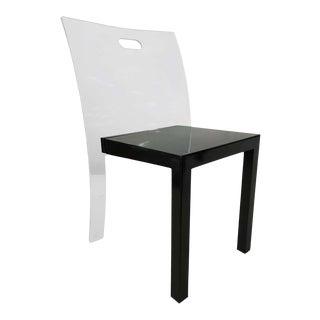 Glass Chair by Curvet Zeritalia For Sale