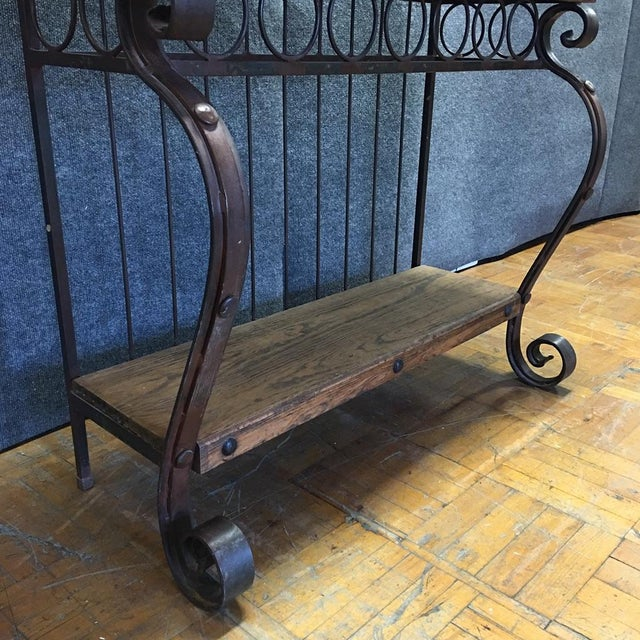 Spanish-Style Iron & Wood Baker's Rack For Sale - Image 4 of 7