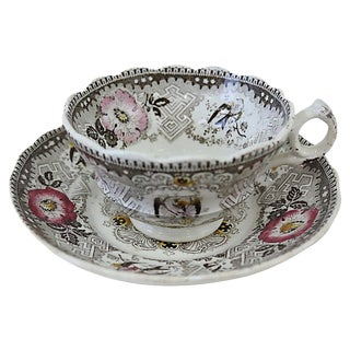 Antique Wedgwood Doves Cup & Saucer For Sale