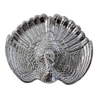 Arthur Court Signed Metal Turkey Tray Server For Sale