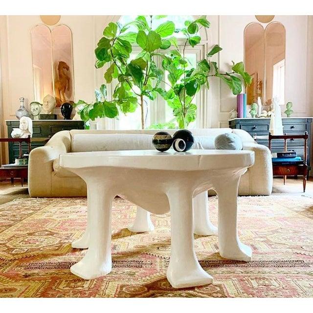 John Dickinson Postmodern John Dickinson 6-Legged African Plaster Coffee Table by David Sutherland For Sale - Image 4 of 8