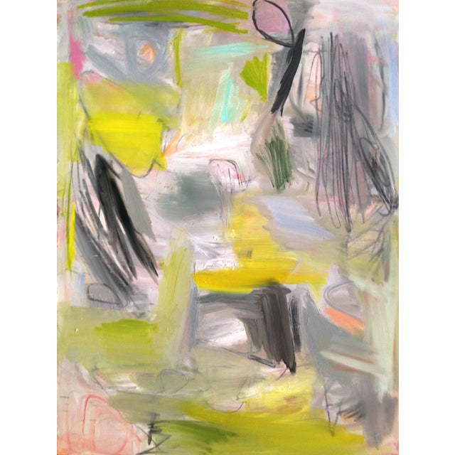 """Trixie Pitts """"Happy Valley"""" Abstract Painting - Image 3 of 4"""