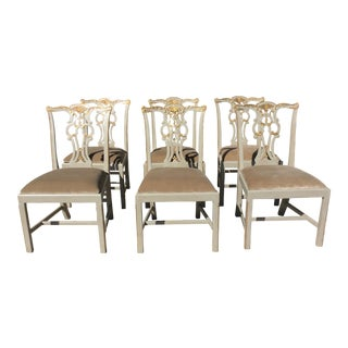 Maitland-Smith Parcel Gilt Dining Chairs - Set of 6
