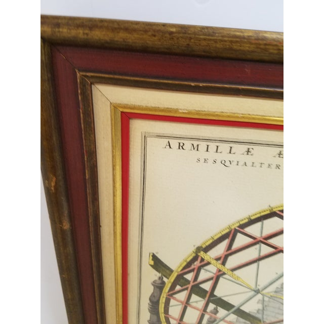 Vintage Hand Colored Armillary Prints - a Pair - Image 5 of 7