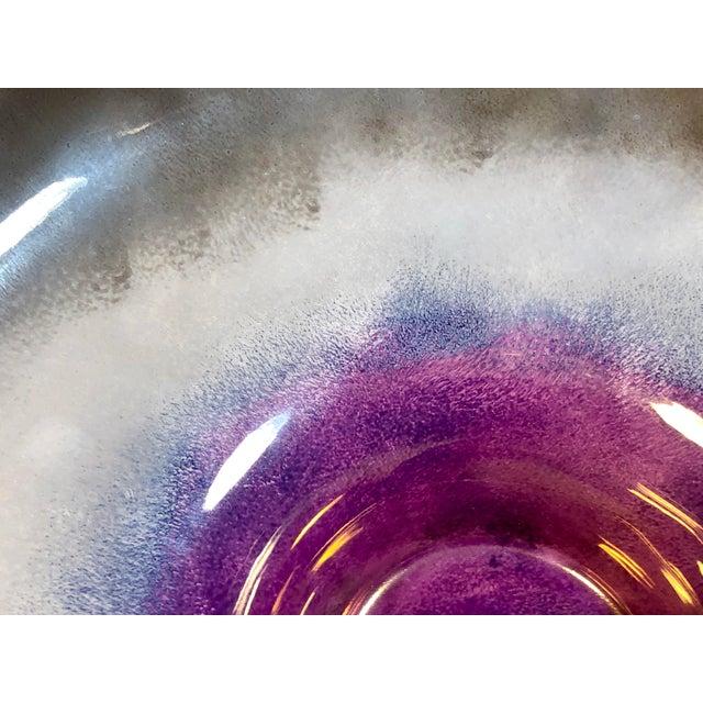 Decorative Porcelain Vessel in Gradient Metallic Finish For Sale - Image 9 of 13