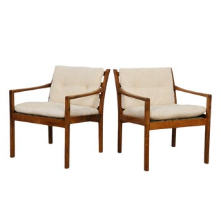 Pair of Danish Modern Rosewood Accent Chairs For Sale
