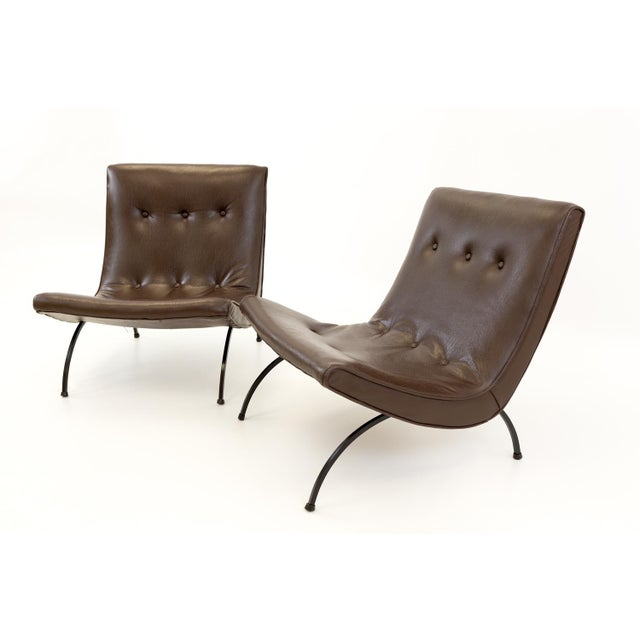 Mid-Century Modern Milo Baughman Mid Century Scoop Lounge Chairs - a Pair For Sale - Image 3 of 11