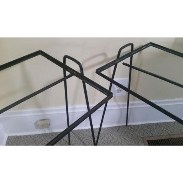 Paul McCobb Mid-Century Modern Wrought Iron Side Tables - a Pair For Sale - Image 4 of 5