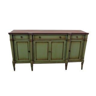 John Widdicomb Green and Natural Wood-Top Server For Sale