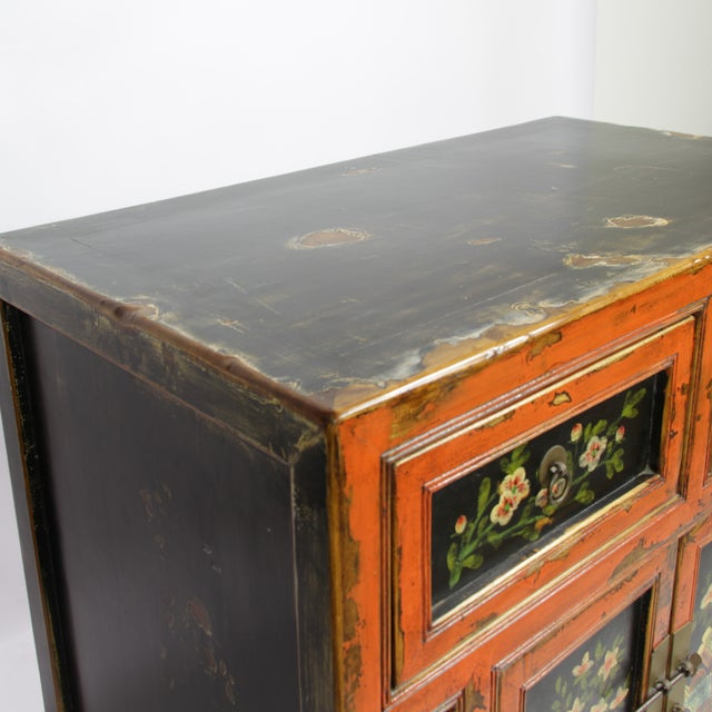 Small Mongolian Painted Cabinet - Image 4 of 4