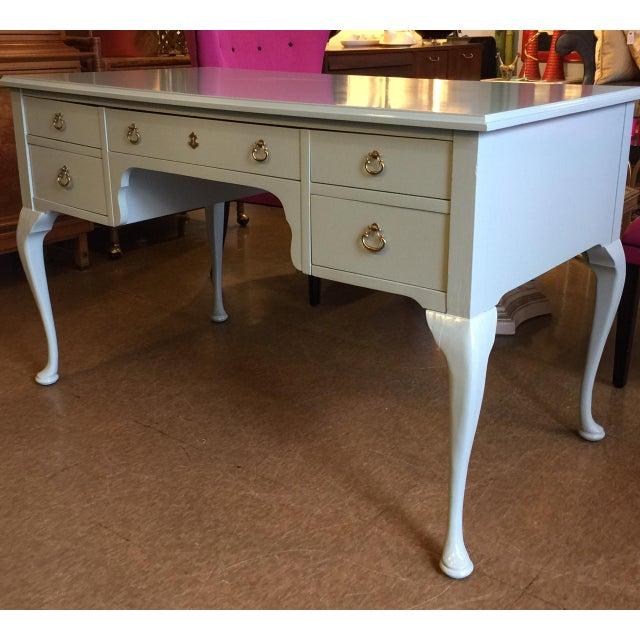 French Style Vintage Lacquered Desk - Image 2 of 7