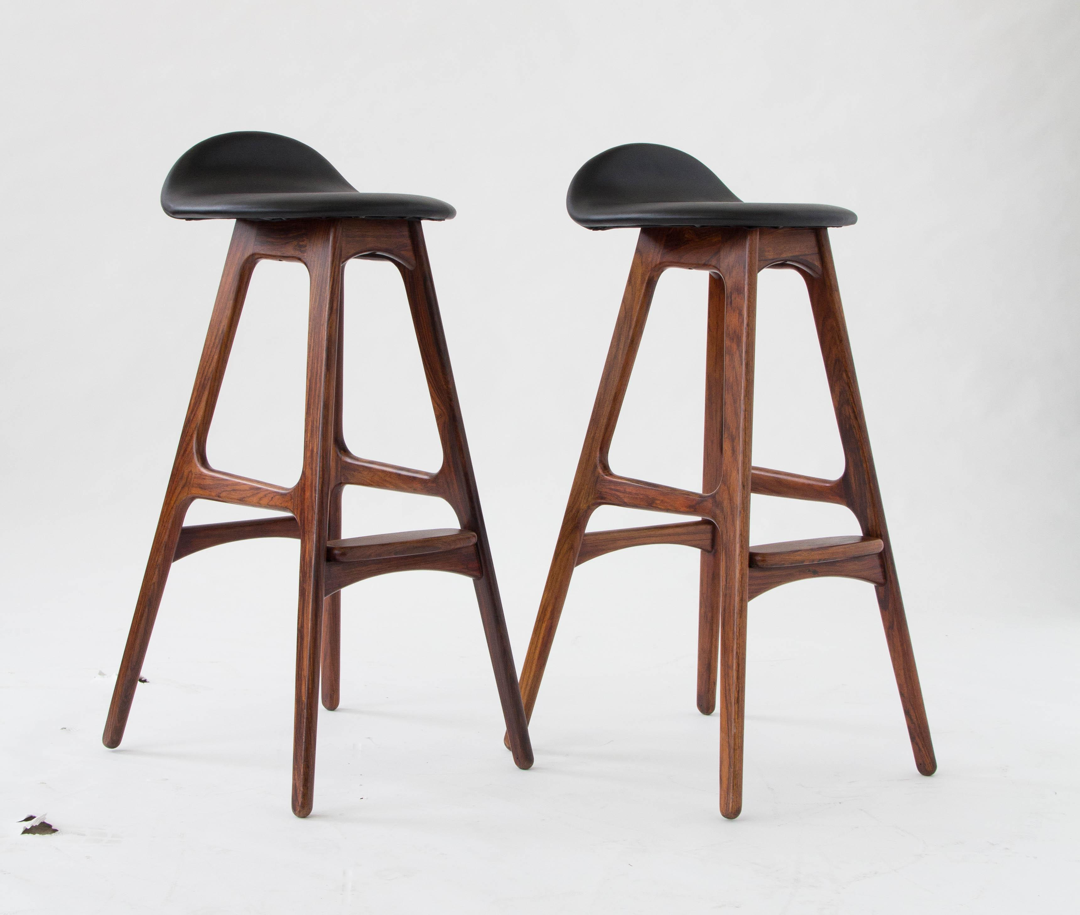 Luxury Brown Leather Bar Stool