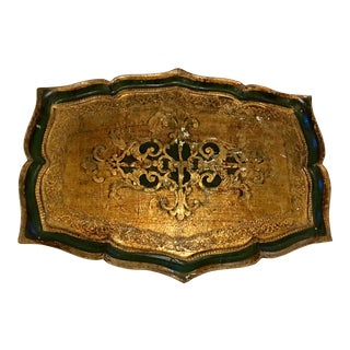Florentine Kelly Green Tray
