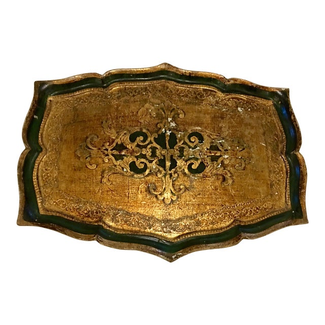 Florentine Kelly Green Tray For Sale