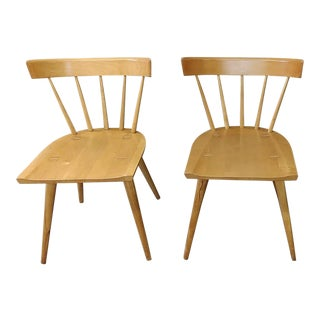 1950s Vintage Winchendon Planner Group Spindle-Back Chairs- a Pair For Sale