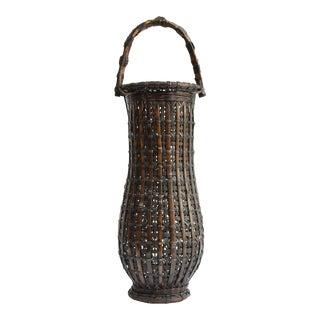 Japanese Bamboo Ikebana Basket For Sale