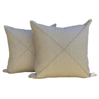 Rustic Style Linen Pillows - a Pair For Sale