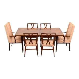 Mid-Century Modern Tommi Parzinger Dining Set - 7 Pieces For Sale