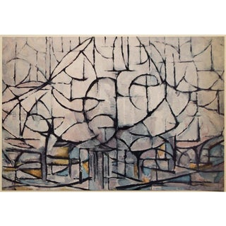 """1958 After Piet Mondrian """"Flowering Trees"""" Vintage Full Color Print From England For Sale"""