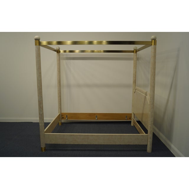 Late 20th Century Henredon Furniture Charisma Collection Queen Size Four Poster Canopy Bed For Sale - Image 5 of 9
