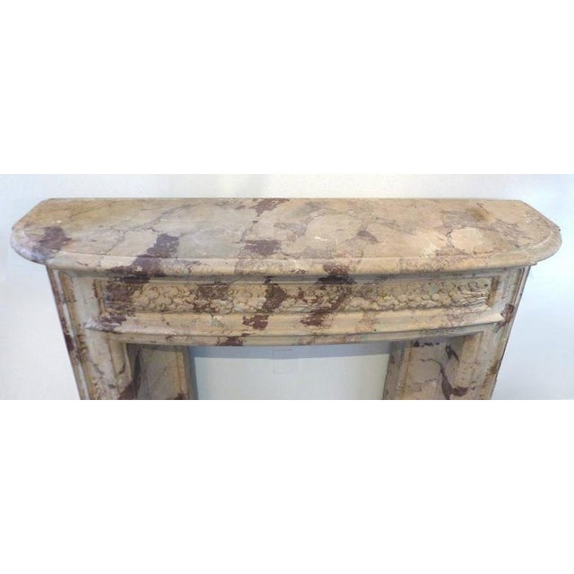 Italian Turn of the Century Italian Terracotta Faux-Marble Fireplace For Sale - Image 3 of 11