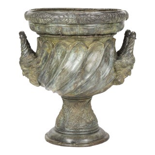 Large Bronze Garden Urn For Sale