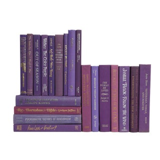 Retro Book Selections in Violet, S/20