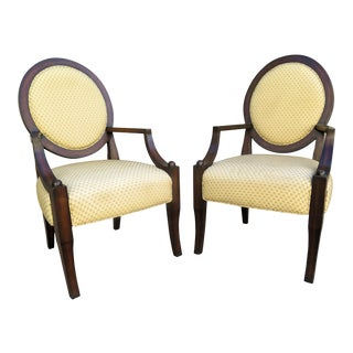 Vintage 1980s A. Rudin Regency Style Side Chairs- A Pair For Sale