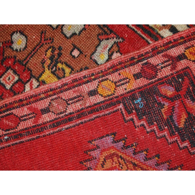 1960s, Handmade Vintage Turkish Yastik Rug 1.6' X 3.1' For Sale - Image 9 of 12