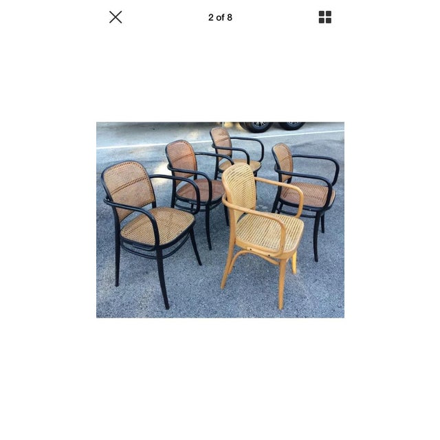 "Josef Hoffman Bentwood & Cane ""Prague"" Chairs - Set of 5 - Image 2 of 8"