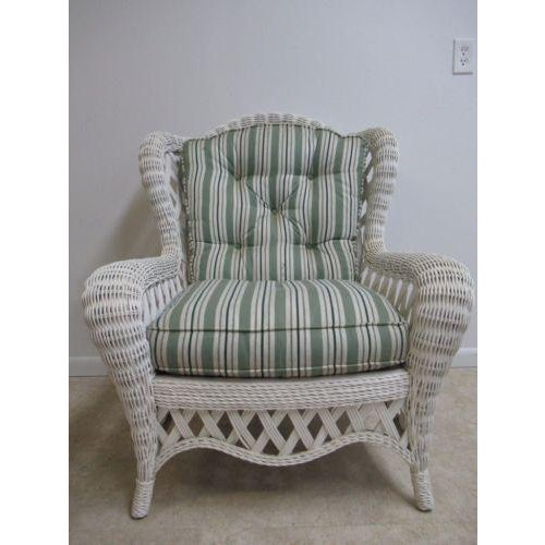 Vintage Custom Wicker Patio Porch Living Room Lounge Chair For Sale - Image 13 of 13