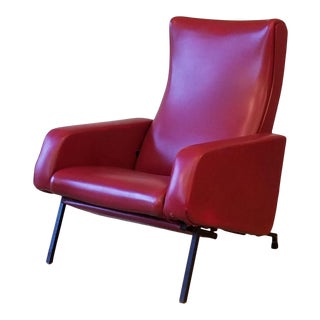 """Vintage Pierre Guariche """"Trelax"""" Reclining Lounge Chair For Sale"""