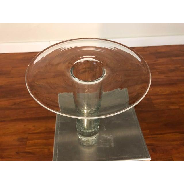 Blenko Mid 20th Century Blenko Hand Blown Glass Vase For Sale - Image 4 of 8