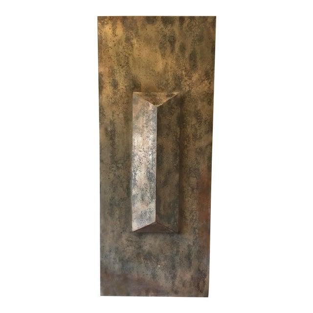 Metallic Modern Wall Sculpture For Sale