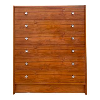 Vintage Modern Teak Highboy Dresser For Sale