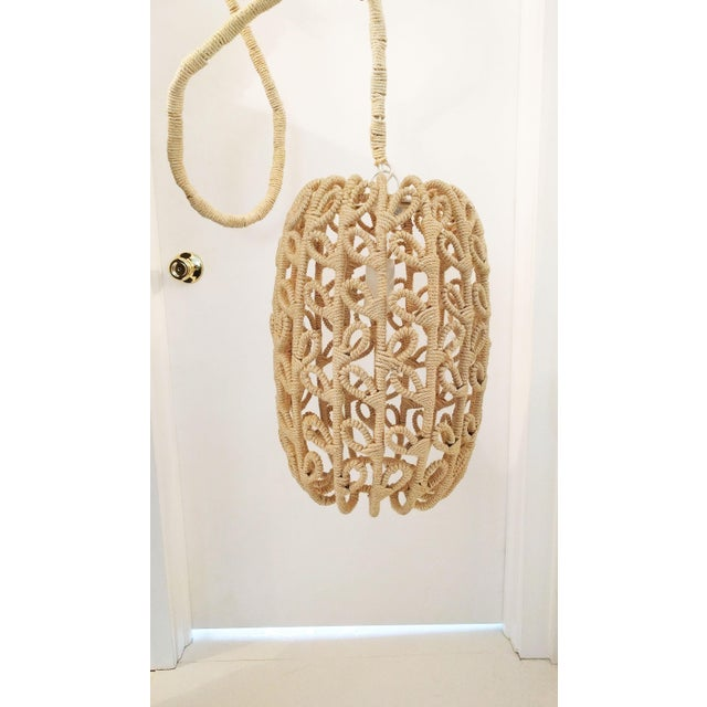 Boho-Chic Jute Pendant Light - Image 2 of 6