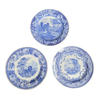 Vintage Late 20th Century Spode Plates - Set of 3 For Sale